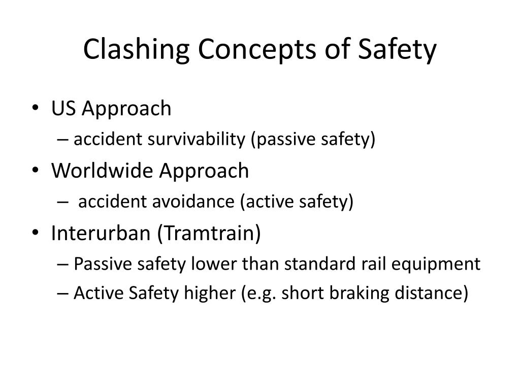 Clashing Concepts of Safety