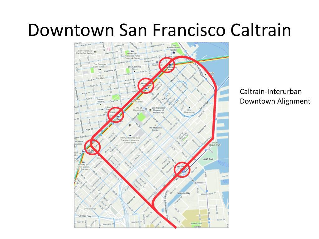 Downtown San Francisco Caltrain