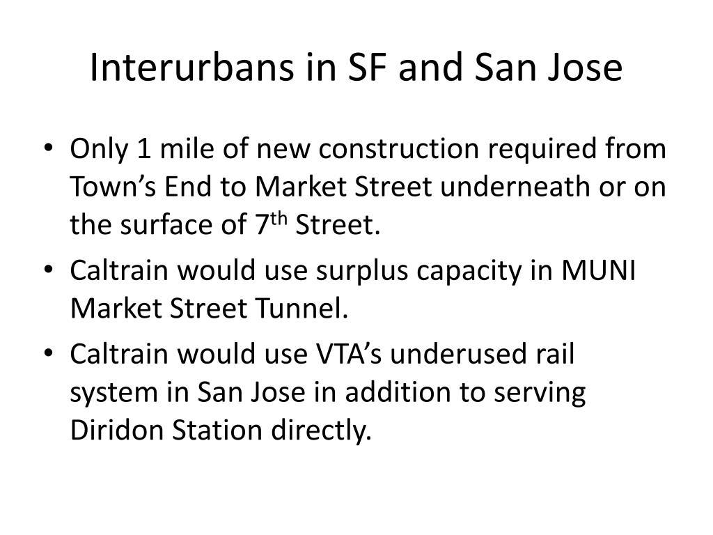 Interurbans in SF and San Jose
