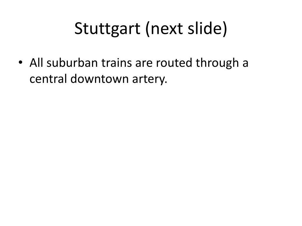 Stuttgart (next slide)