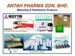 antah pharma sdn bhd marketing distribution products