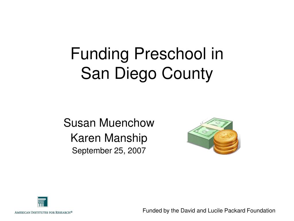 funding preschool in san diego county l.
