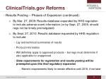 clinicaltrials gov reforms33