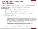 fda will accept foreign data non ind studies
