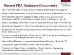 recent fda guidance documents