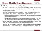 recent fda guidance documents24