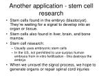 another application stem cell research