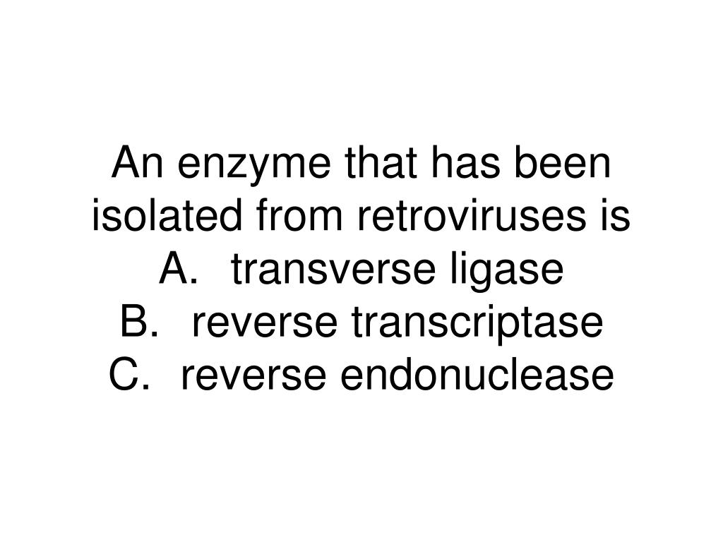 An enzyme that has been isolated from retroviruses is