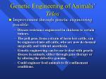 genetic engineering of animals telos