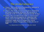 the invalid inference