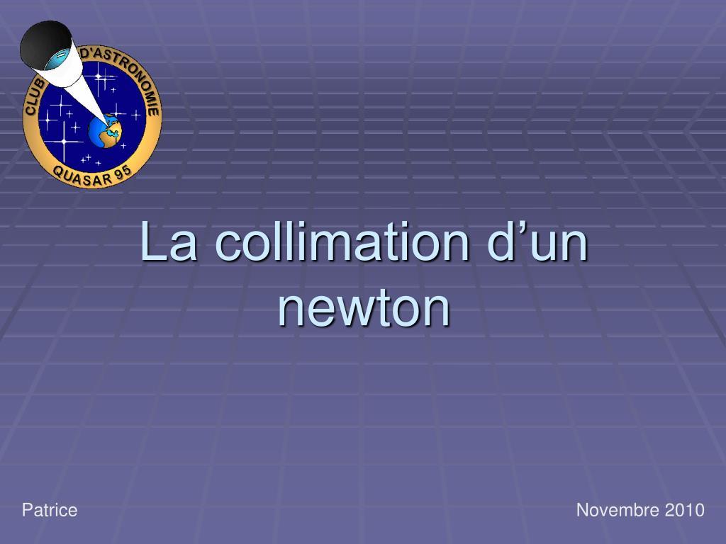 la collimation d un newton