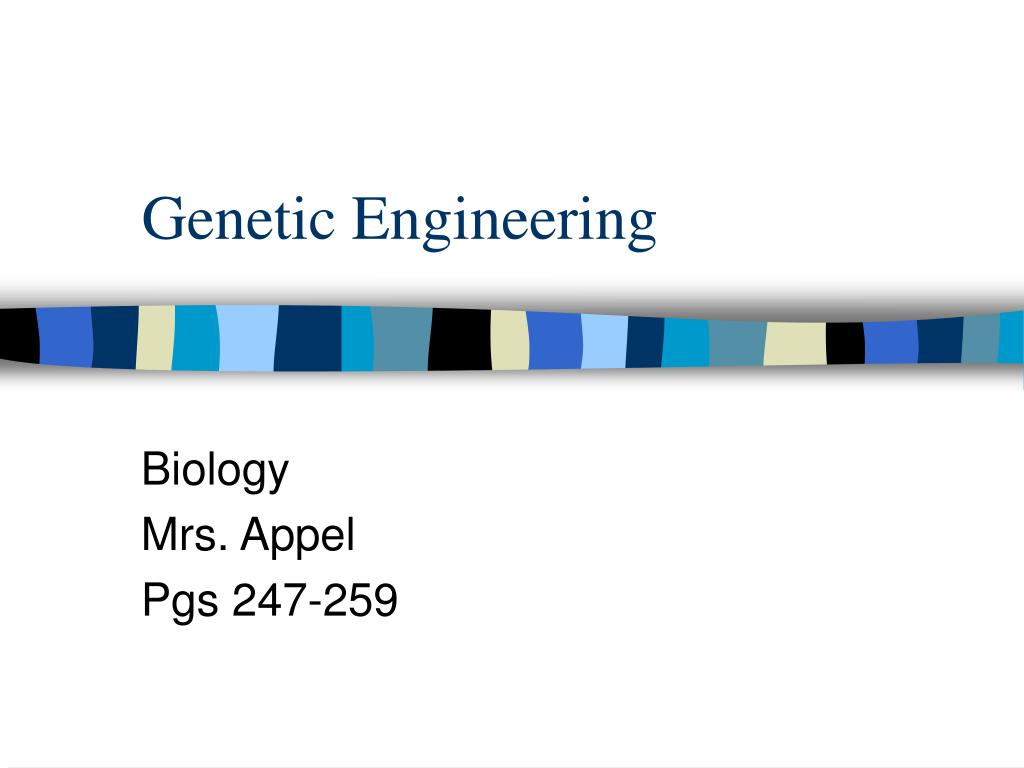 genetic engineering l.