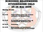 nordiske brannmenns studiedager oslo 25 28 mai 20093