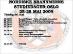 nordiske brannmenns studiedager oslo 25 28 mai 20094