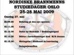 nordiske brannmenns studiedager oslo 25 28 mai 20095