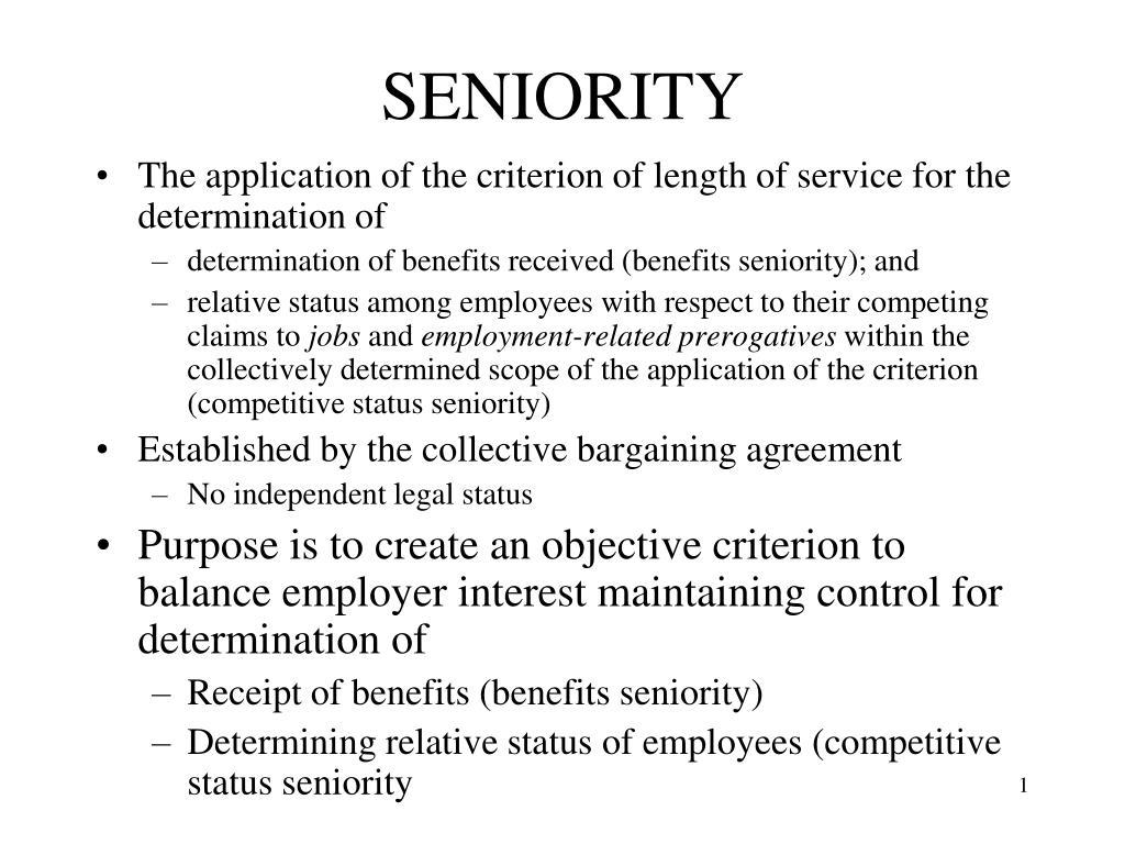 seniority l.