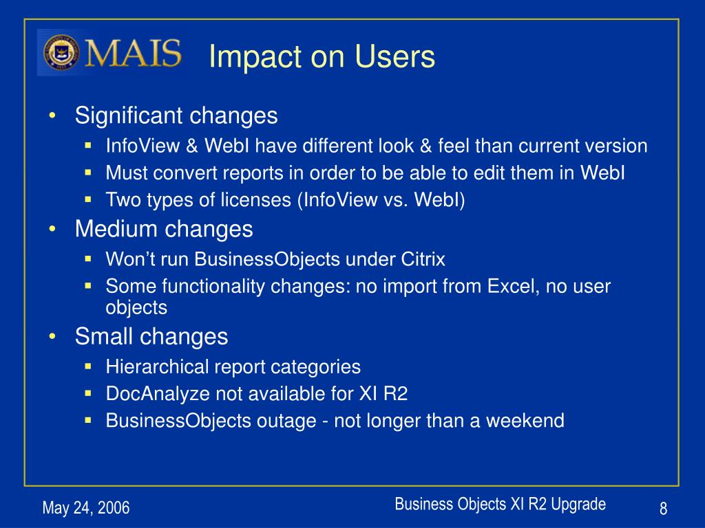 Impact on Users