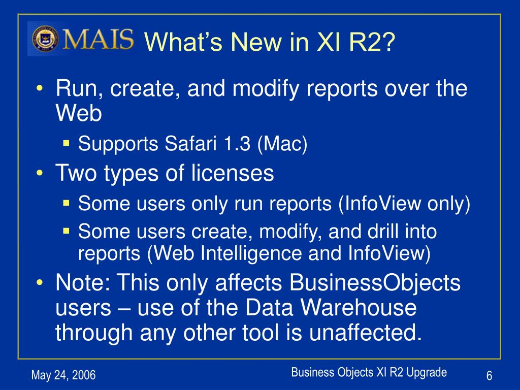 What's New in XI R2?