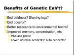 benefits of genetic enh t
