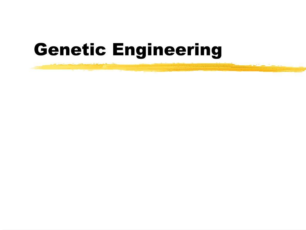 genetic engineering l.