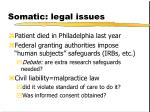 somatic legal issues