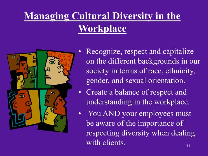 importance of understanding culture diversity in the workplace Managing a wide range of cultural diversity in the australian workplace impossible we are now in the 21st century and immigrants are entering instead it brings each worker into an understanding of his or her co-workers for their mutual benefits and to make diversity in the workplace possible.