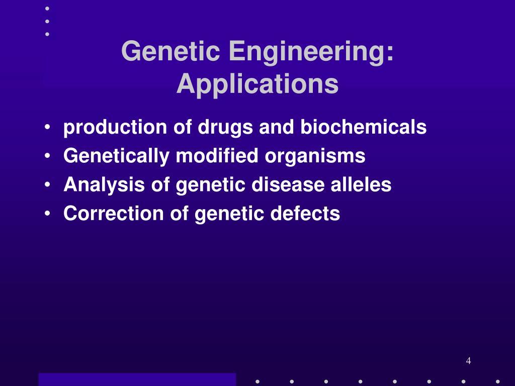 Genetic Engineering: Applications