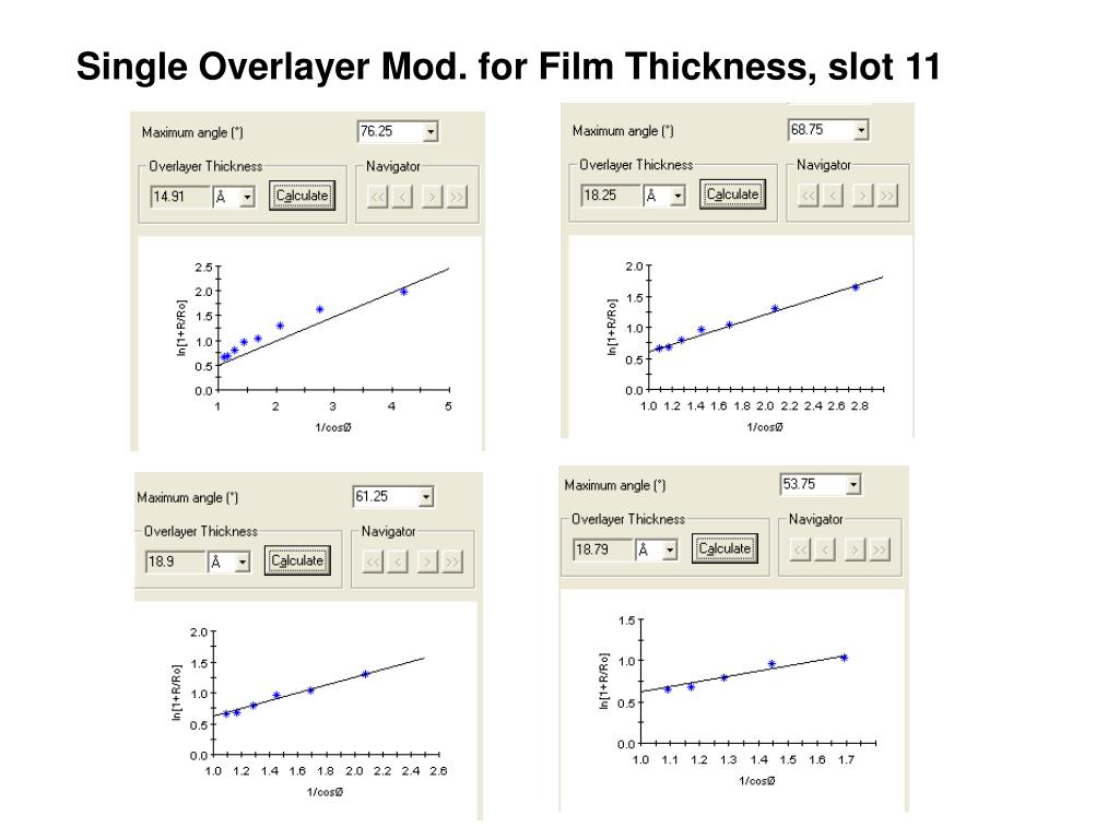 Single Overlayer Mod. for Film Thickness, slot 11
