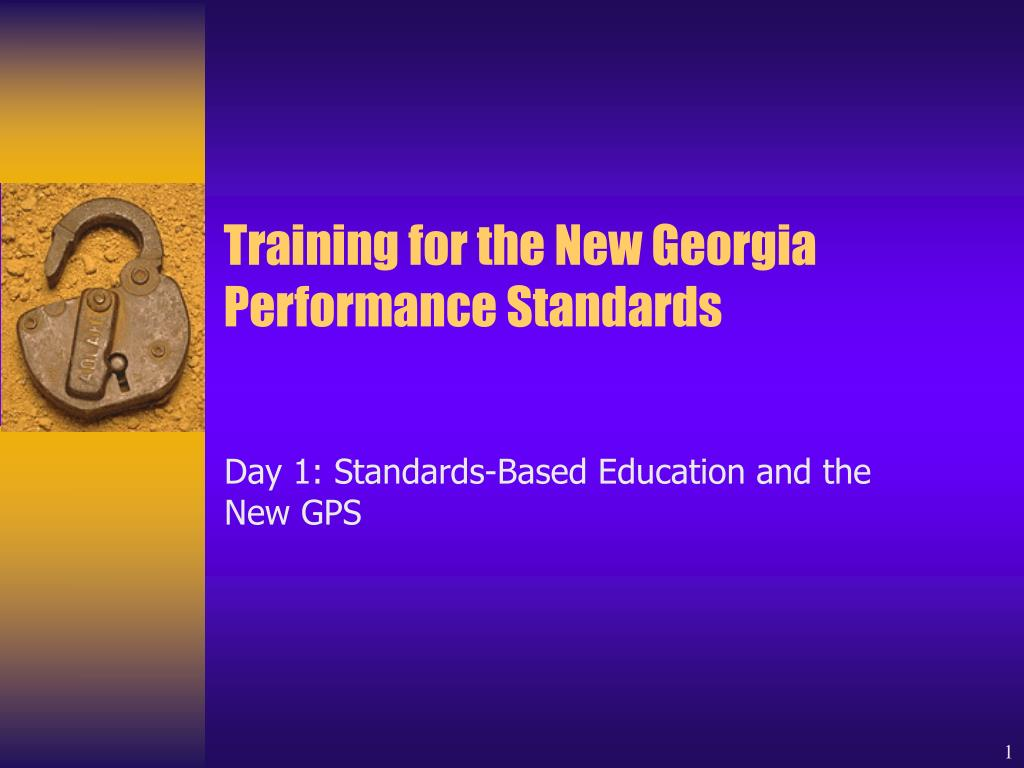 training for the new georgia performance standards l.