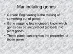 manipulating genes