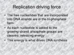 replication driving force