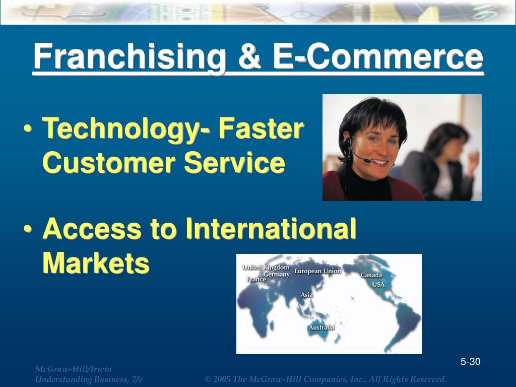 Franchising & E-Commerce