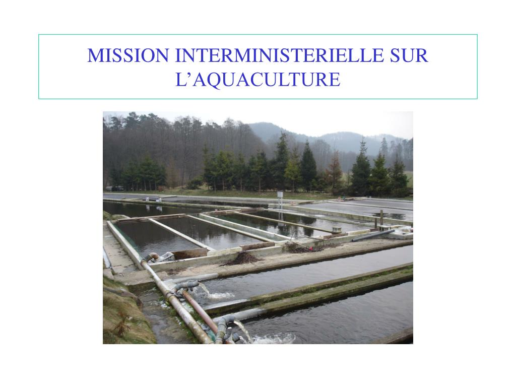 mission interministerielle sur l aquaculture l.