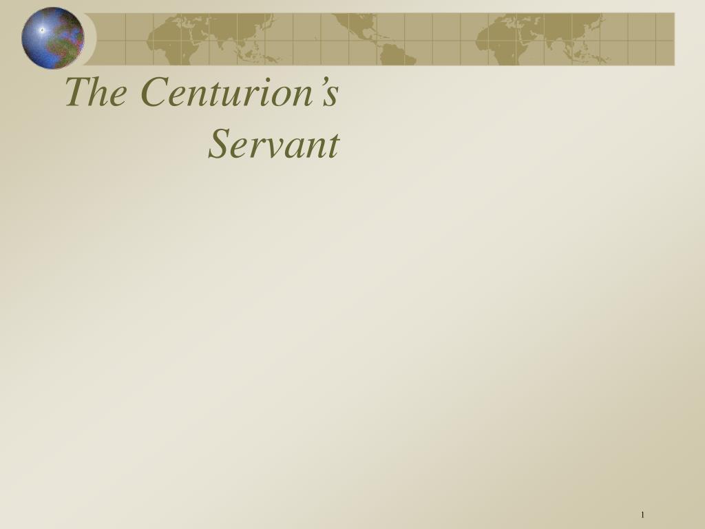 the centurion s servant l.