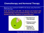 chemotherapy and hormonal therapy