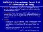 nasbp b 20 chemotherapy benefit trial for the onco type dx assay
