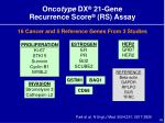 onco type dx 21 gene recurrence score rs assay