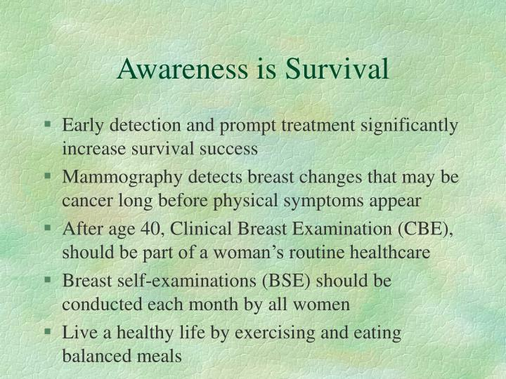 Awareness is survival