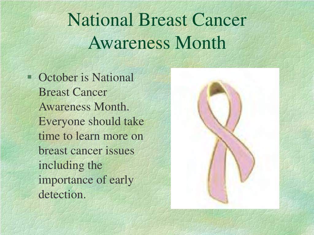 national breast cancer prevention month receiving