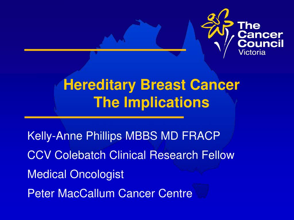 hereditary breast cancer the implications l.