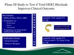 phase iii study to test if total her2 blockade improves clinical outcome