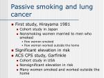 passive smoking and lung cancer