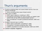thun s arguments