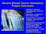ukraine breast cancer assistance project outcomes