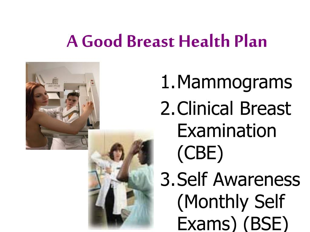 A Good Breast Health Plan