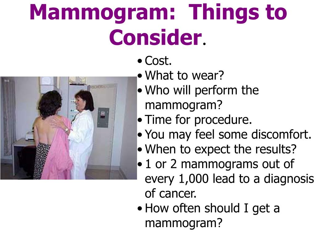 Mammogram:  Things to Consider