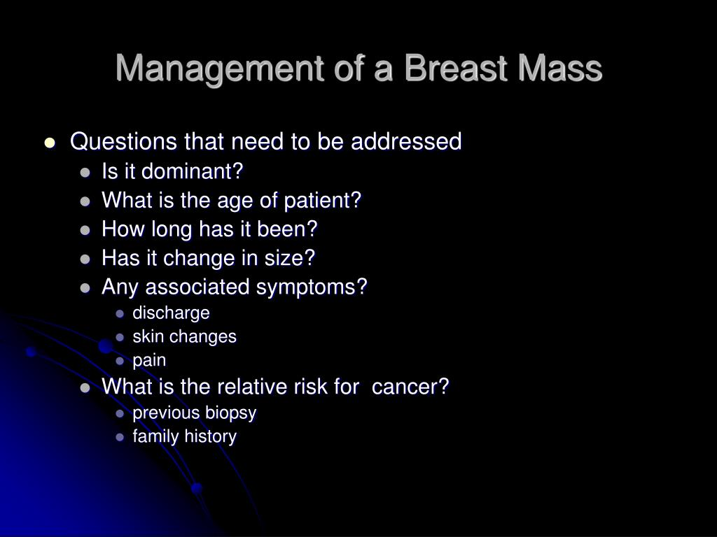 Management of a Breast Mass