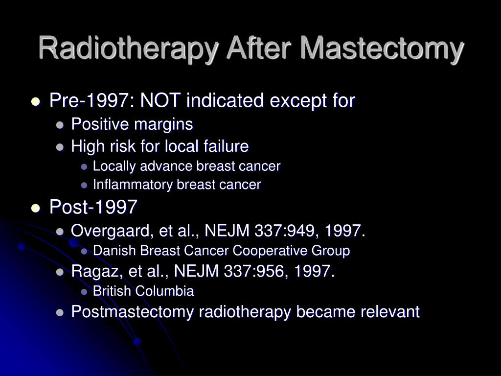 Radiotherapy After Mastectomy