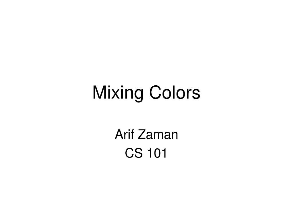 mixing colors l.