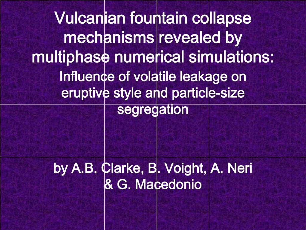 vulcanian fountain collapse mechanisms revealed by multiphase numerical simulations l.